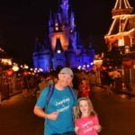 Father and Daughter wearing personalised T-shirts at Disney World