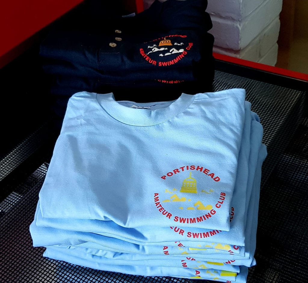 Portishead swimming club t-shirts