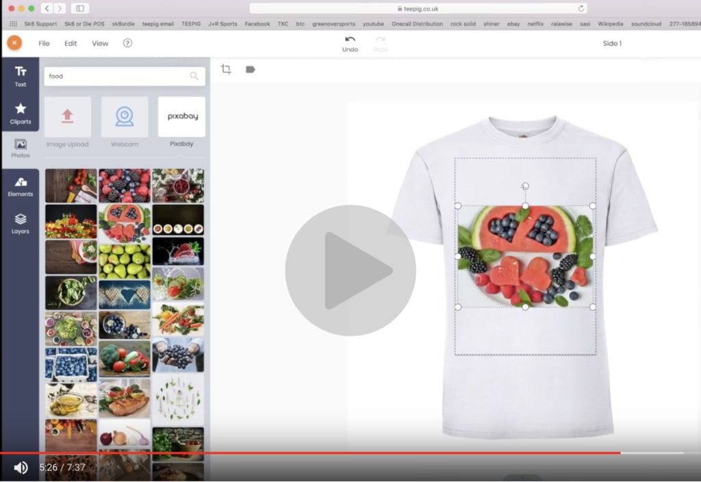 video guide t-shirt design online