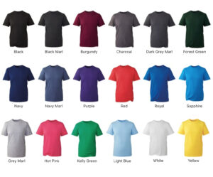 anthem t-shirt colours